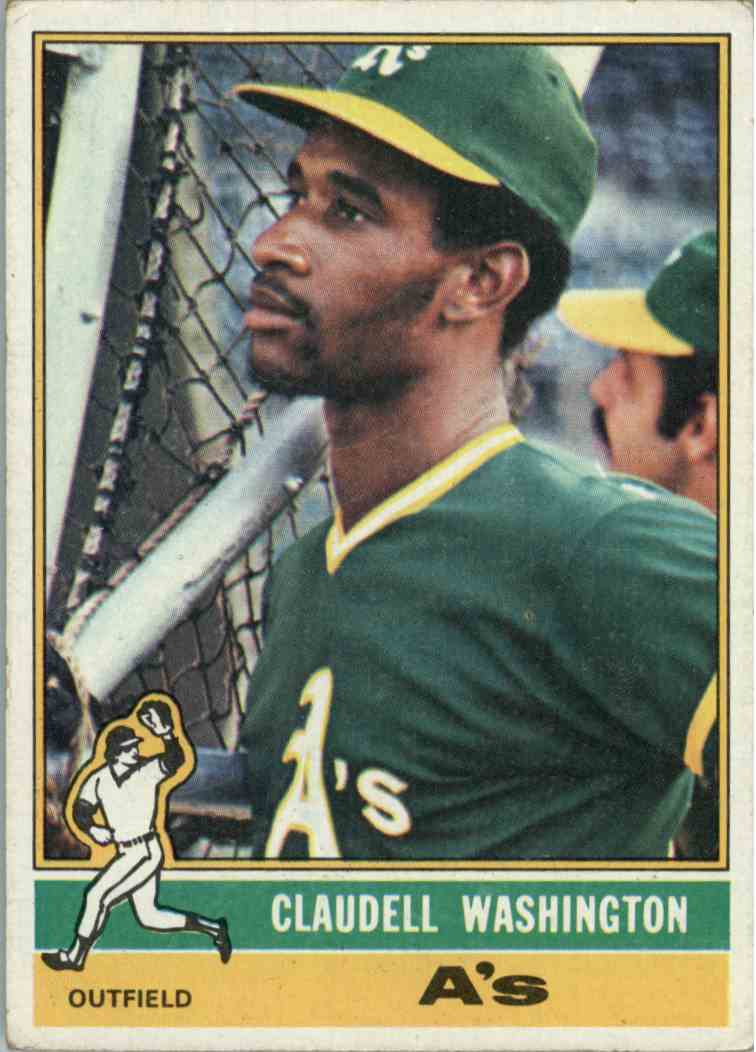 1976 Topps Claudell Washington #189 card front image