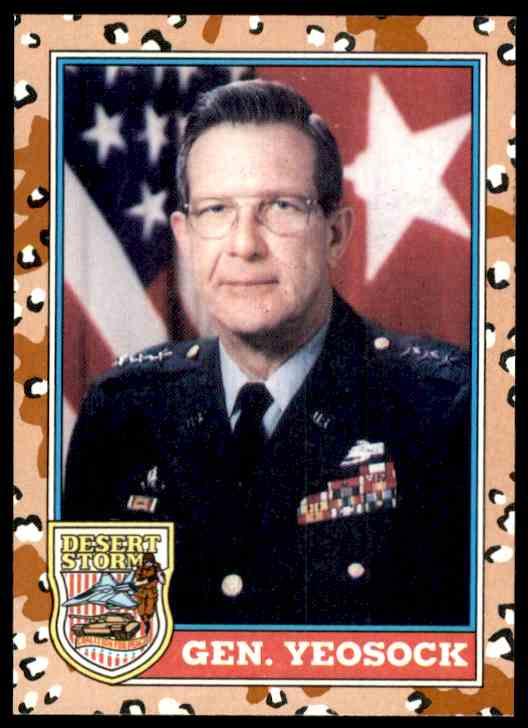 1991 Desert Storm Topps Gen. Yeosock #161 card front image