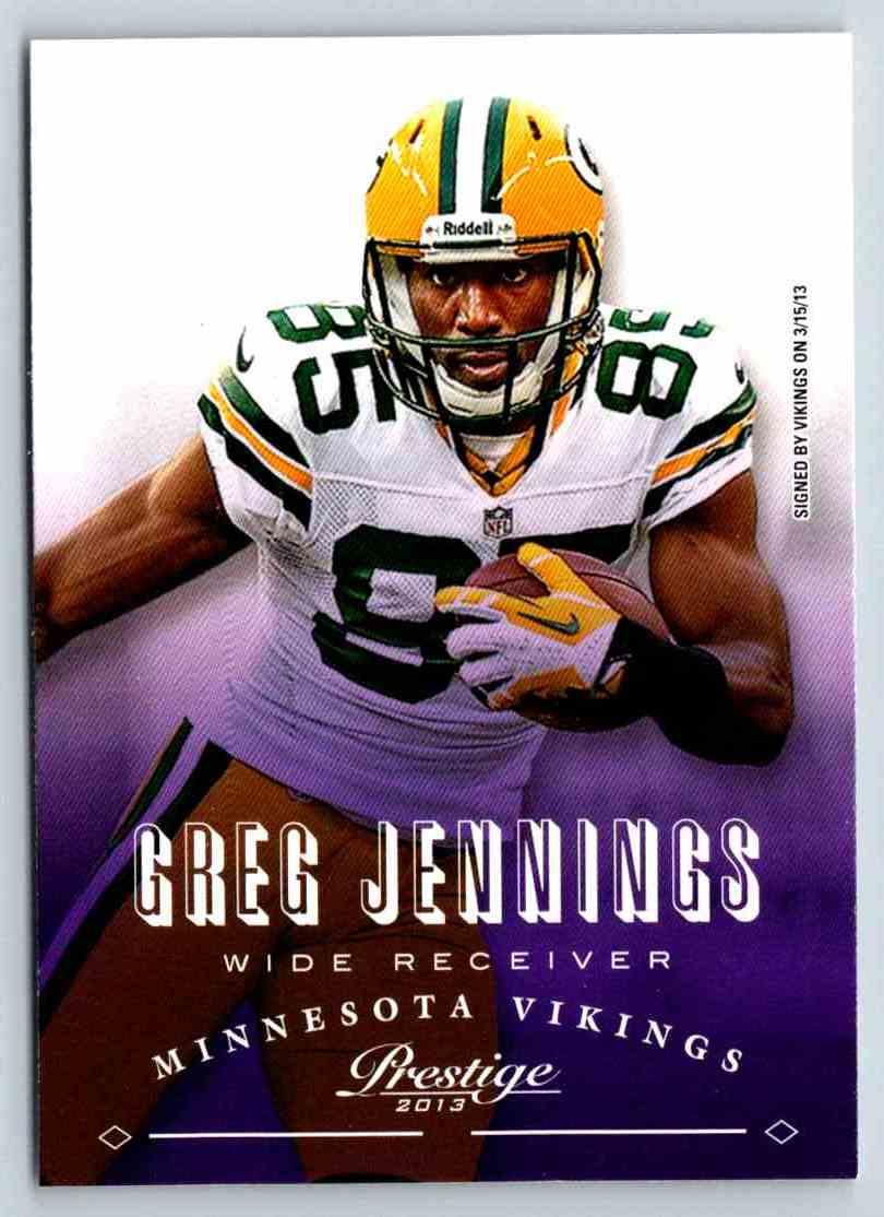 2013 Prestige Greg Jennings #108 card front image