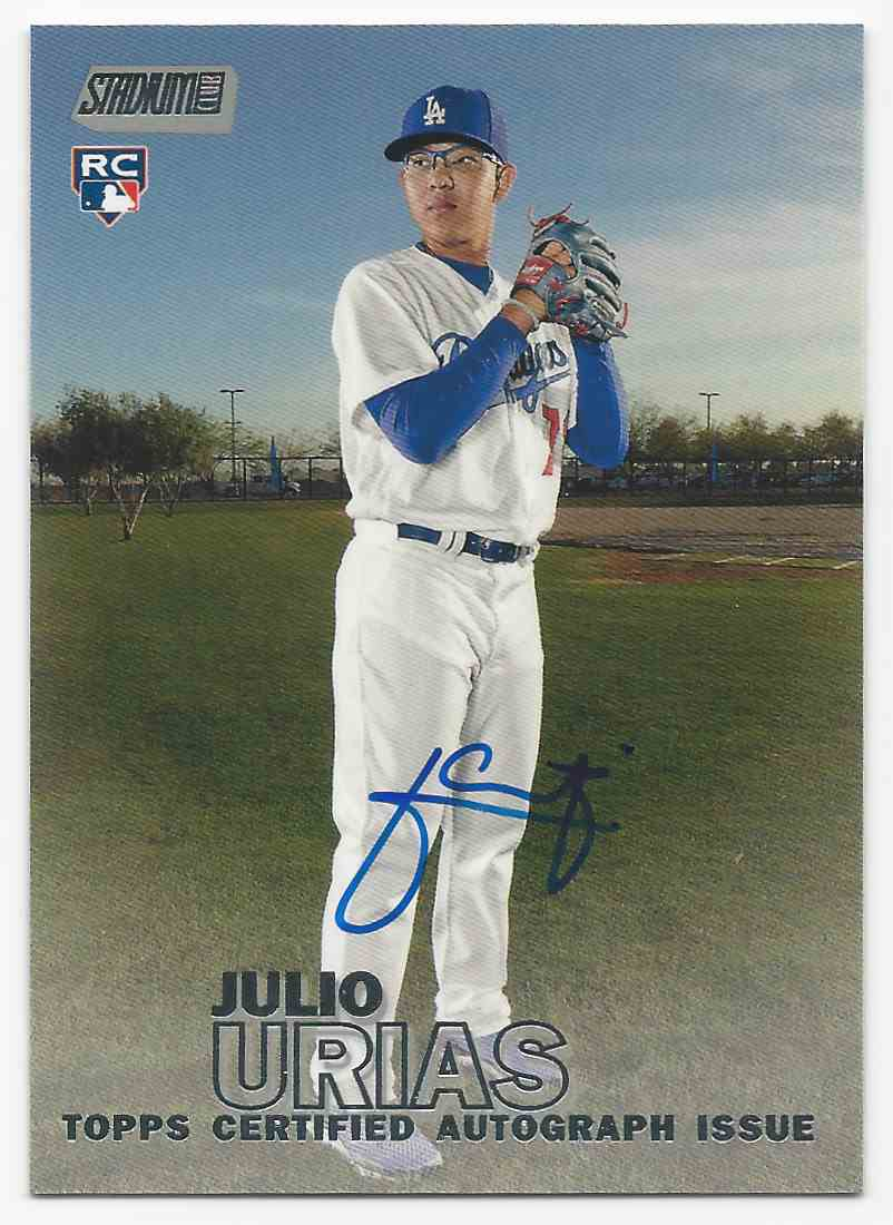 2016 Stadium Club Autographs Julio Urias #SCA-JU card front image