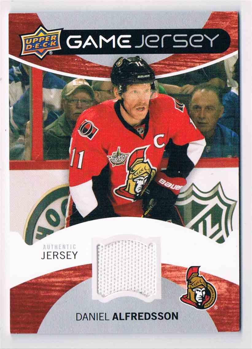 2012-13 Upper Deck Game Jersey Daniel Alfredsson #GJ-DA card front image