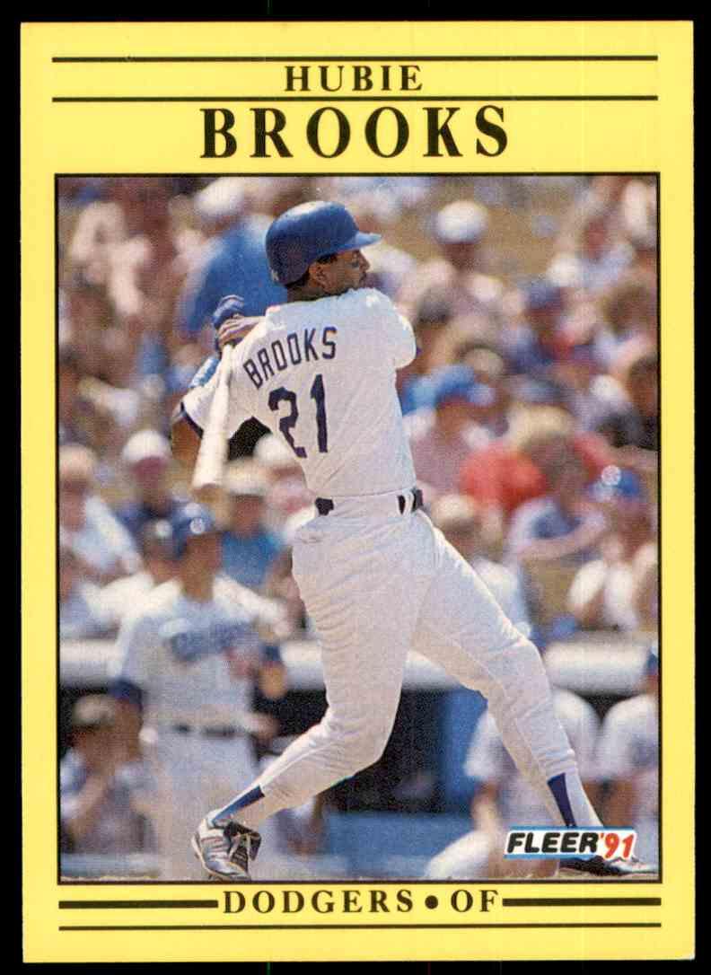 1991 Fleer Hubie Brooks #195 card front image