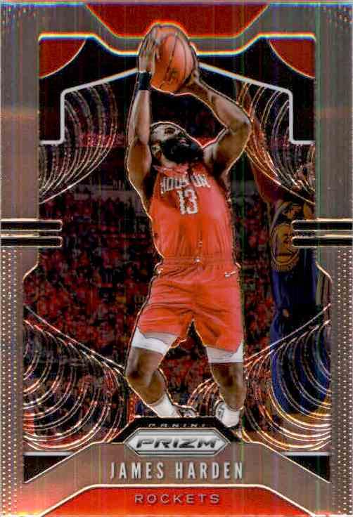 2019-20 Panini Prizm Basketball Prizm James Harden #107 card front image
