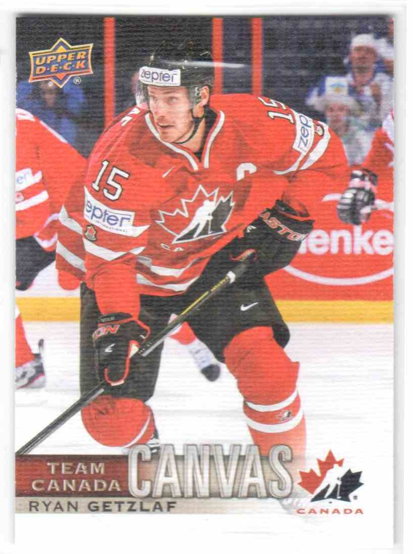 2017-18 Upper Deck Team Canada Canadian Tire Canvas Ryan Getzlaf #TCC-28 card front image