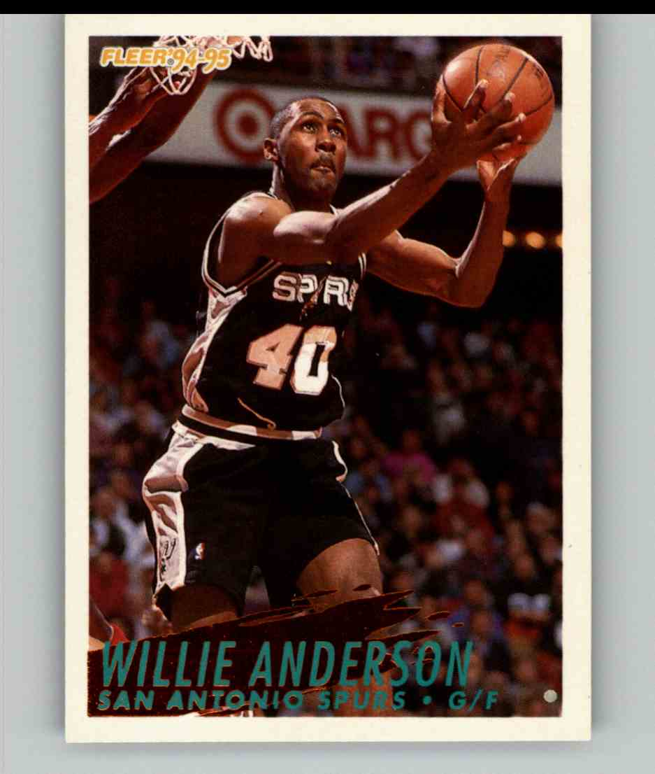 1994-95 Fleer Willie Anderson #201 card front image