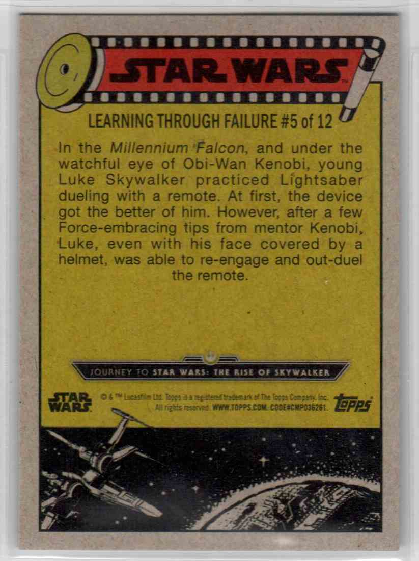 2019 Topps Star Wars Journey To Rise Of Skywalker Struck By The Remote #47 card back image