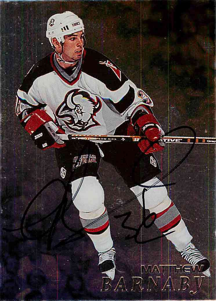 1998-99 In The Game Be A Player Matthew Barnaby #14 card front image