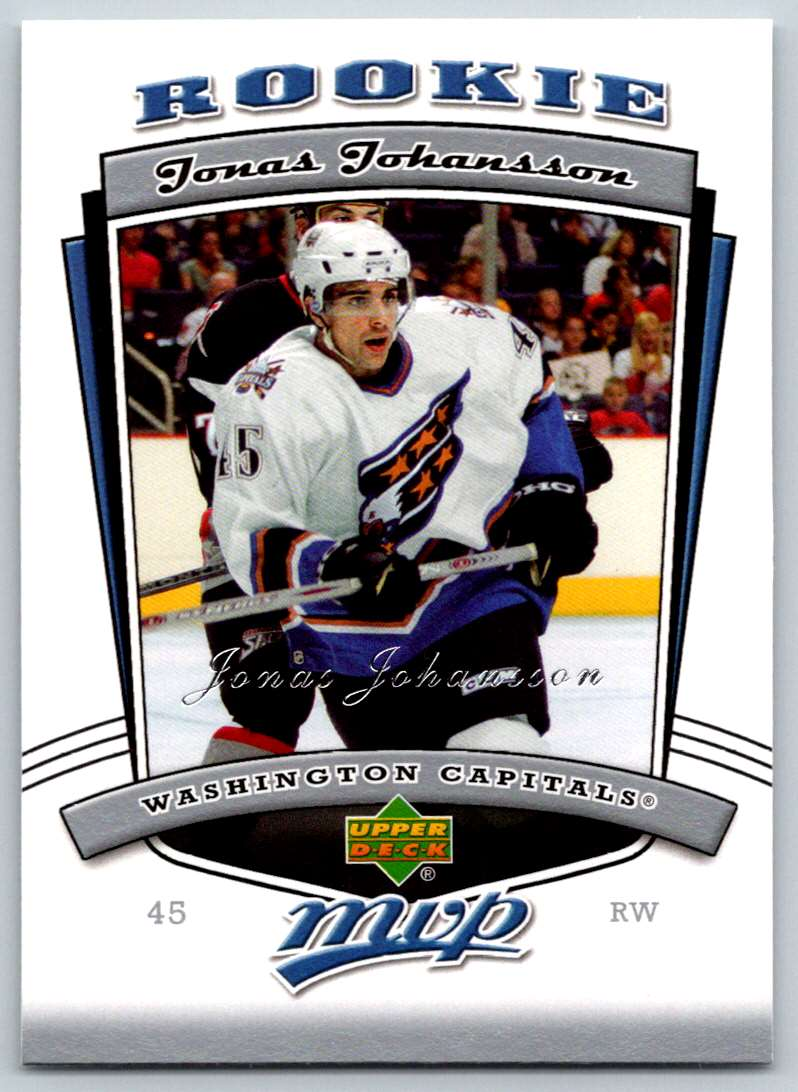 2006-07 Upper Deck MVP Jonas Johansson #341 card front image