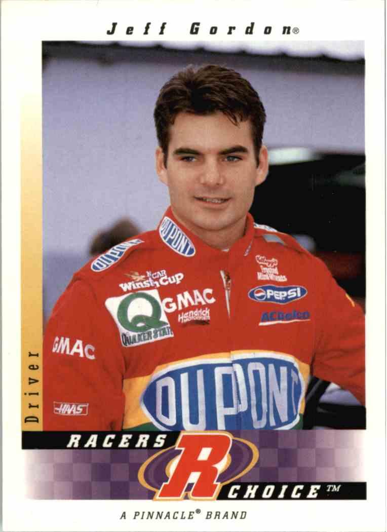 1997 Pinnacle Jeff Gordon #24 card front image