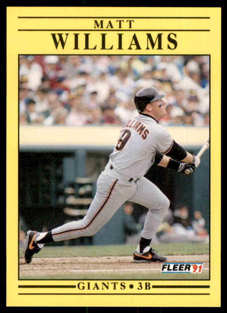 1991 Fleer Matt Williams #276 card front image