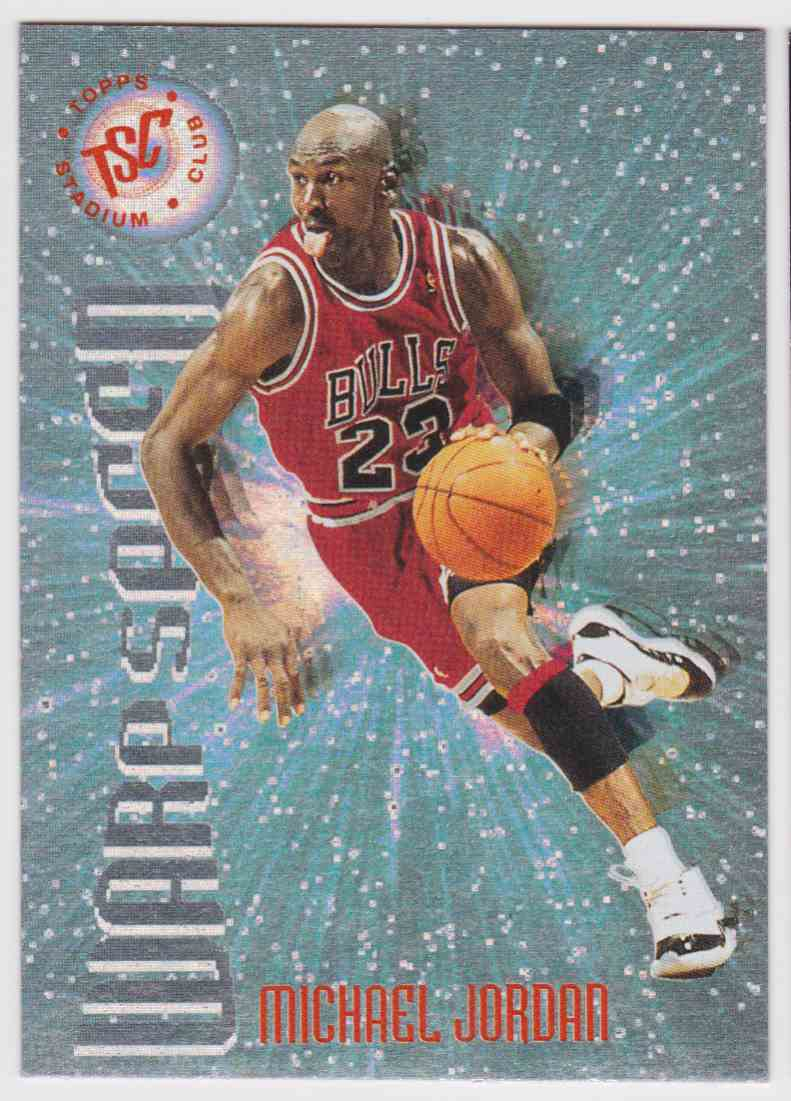 1995-96 Topps Stadium Club Warp Speed Michael Jordan #WS1 card front image