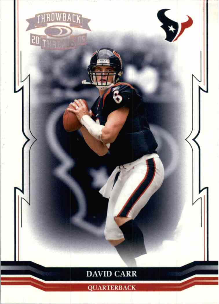 2005 Donruss Threads David Carr #60 card front image