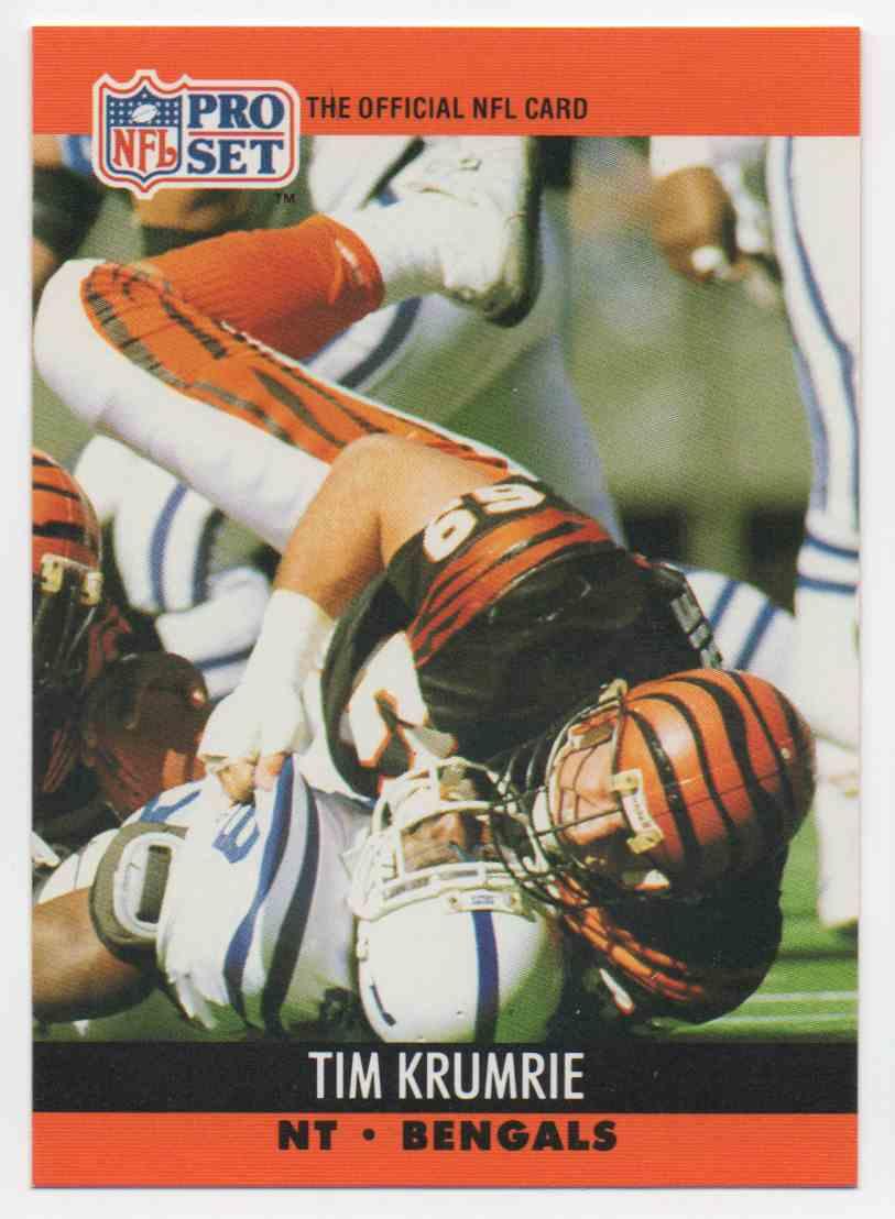 1990 Pro Set Tim Krumrie #466 card front image