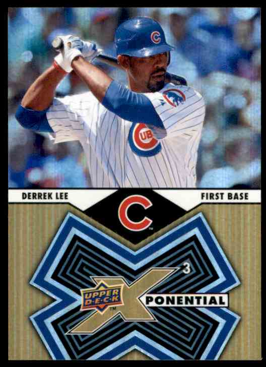 2009 Upper Deck X Xponential 3 Derrek Lee #X3DL card front image