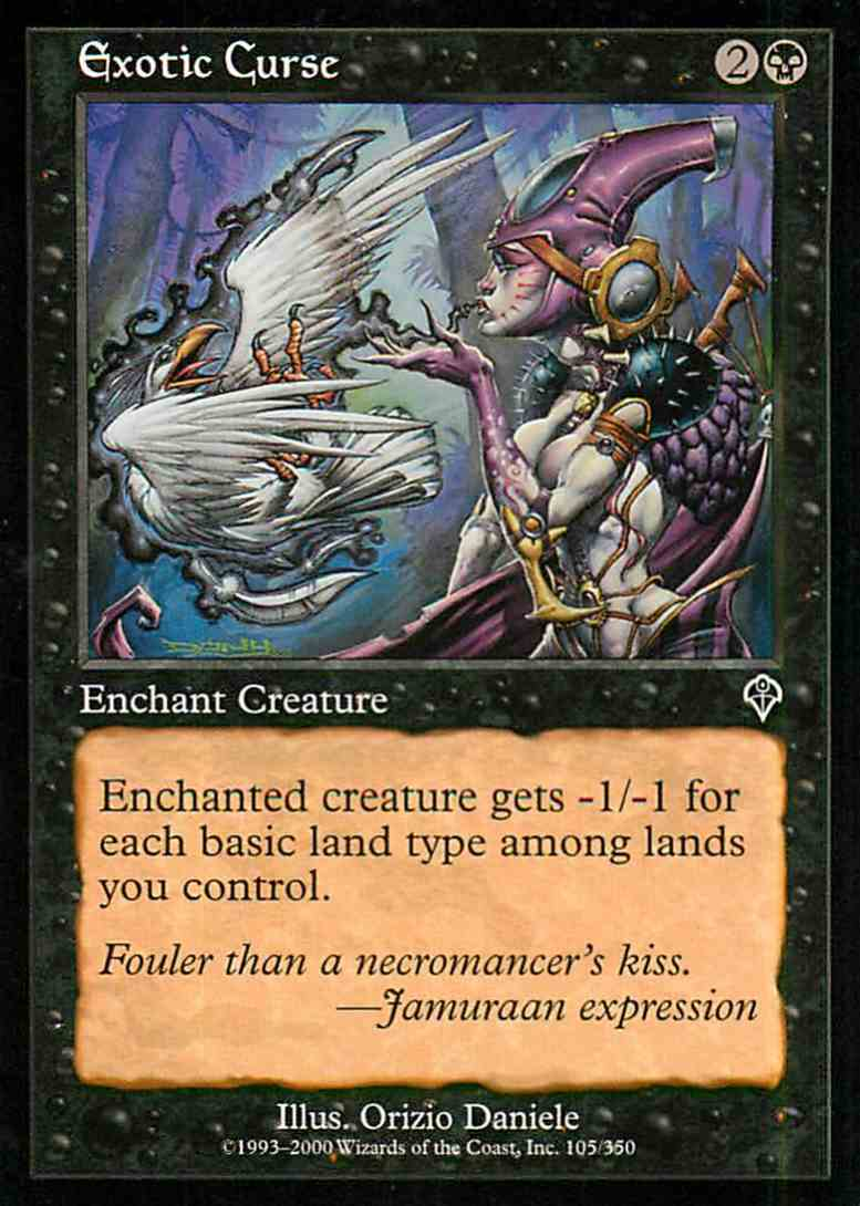 1994 Magic The Gathering Invasion Exotic Curse #105 card front image