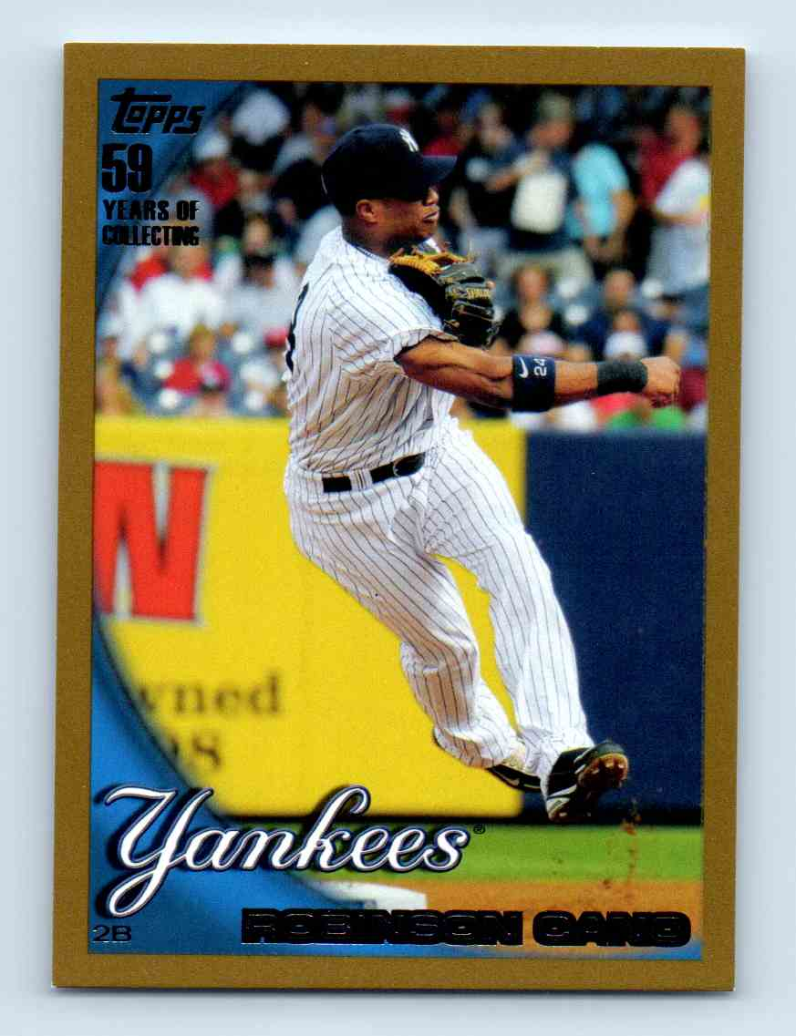 2010 Topps Gold Border Robinson Cano #370 card front image