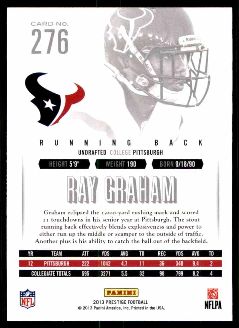 2013 Prestige Ray Graham RC #276 card back image