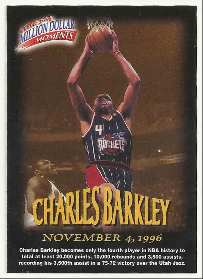 1997-98 Fleer Million Dollar Moments Charles Barkley #3 card front image