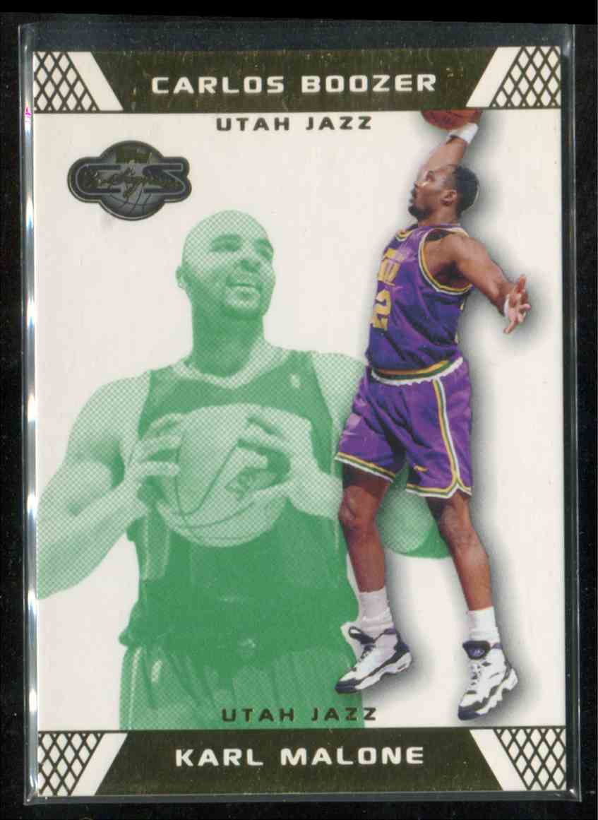 official photos 32590 1c827 2007-08 Topps Co-Signers Green Gold Karl Malone/Carlos ...