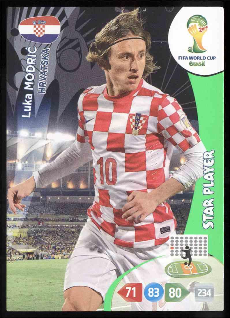 0e4fe1e8ba2 2014 Panini Adrenalyn XL Fifa World Cup Brazil Luka Modric  197 card front  image