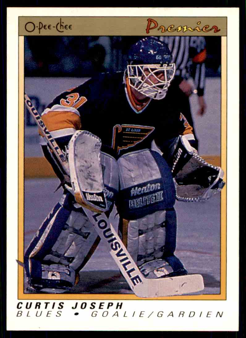 1990-91 O-Pee-Chee Premier ! Curtis Joseph #51 card front image