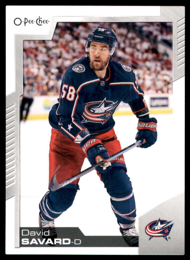 2020-21 O-Pee-Chee David Savard #248 card front image