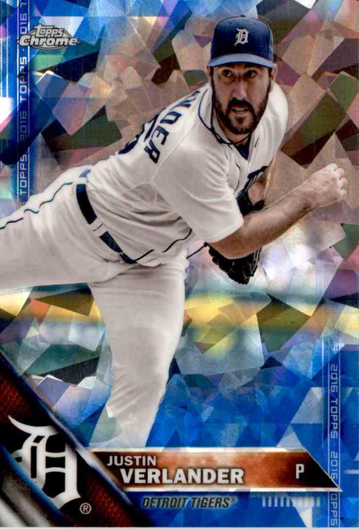 2016 Topps Blue Sapphire Justin Verlander #255 card front image