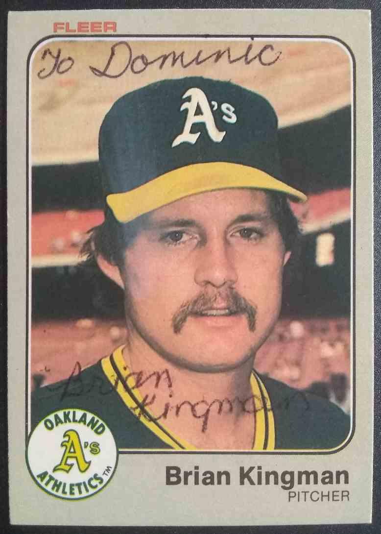 1983 Fleer Brian Kingman #522 card front image