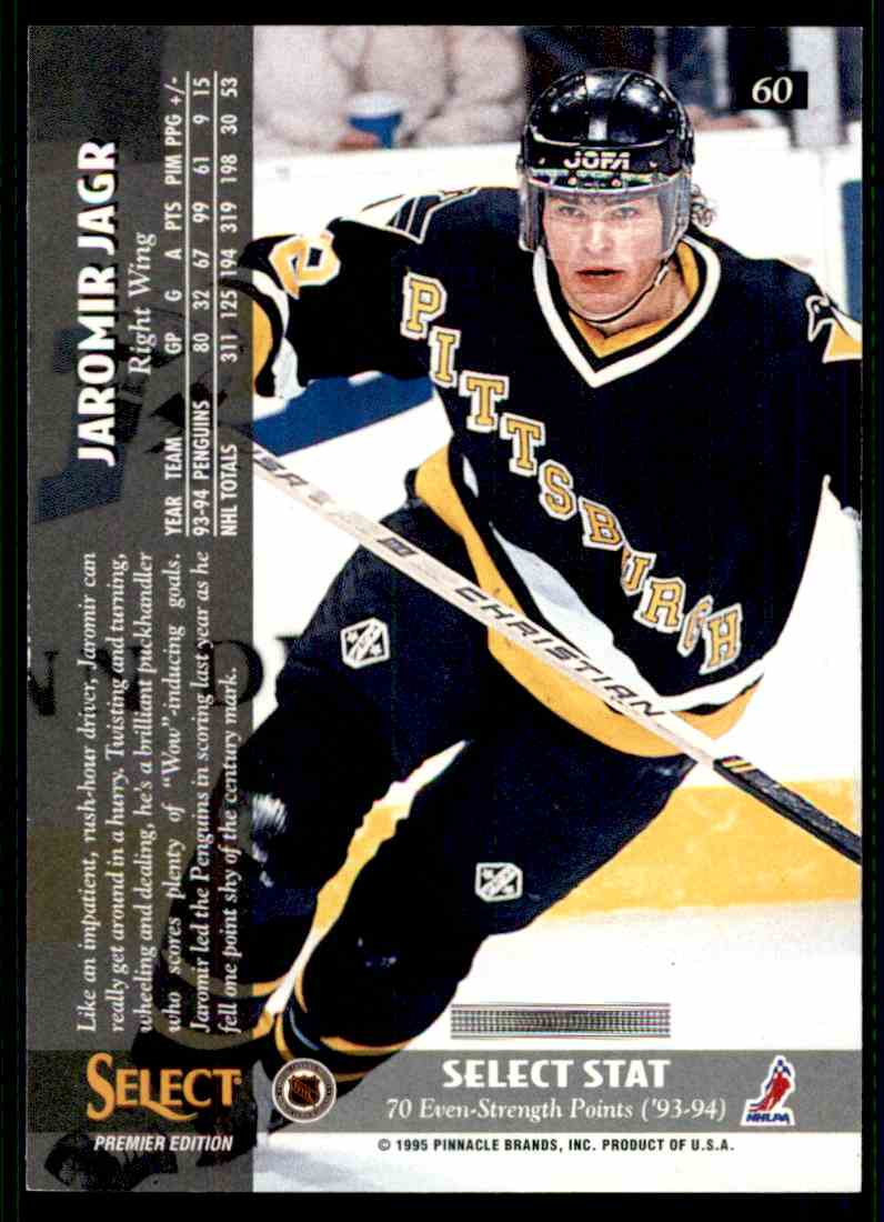 1994-95 Select Jaromir Jagr #60 card back image