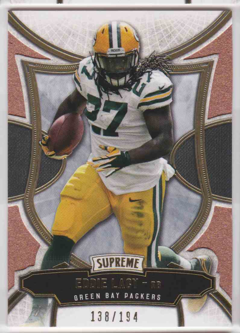 2015 Topps Supreme Copper Eddie Lacy #19 card front image