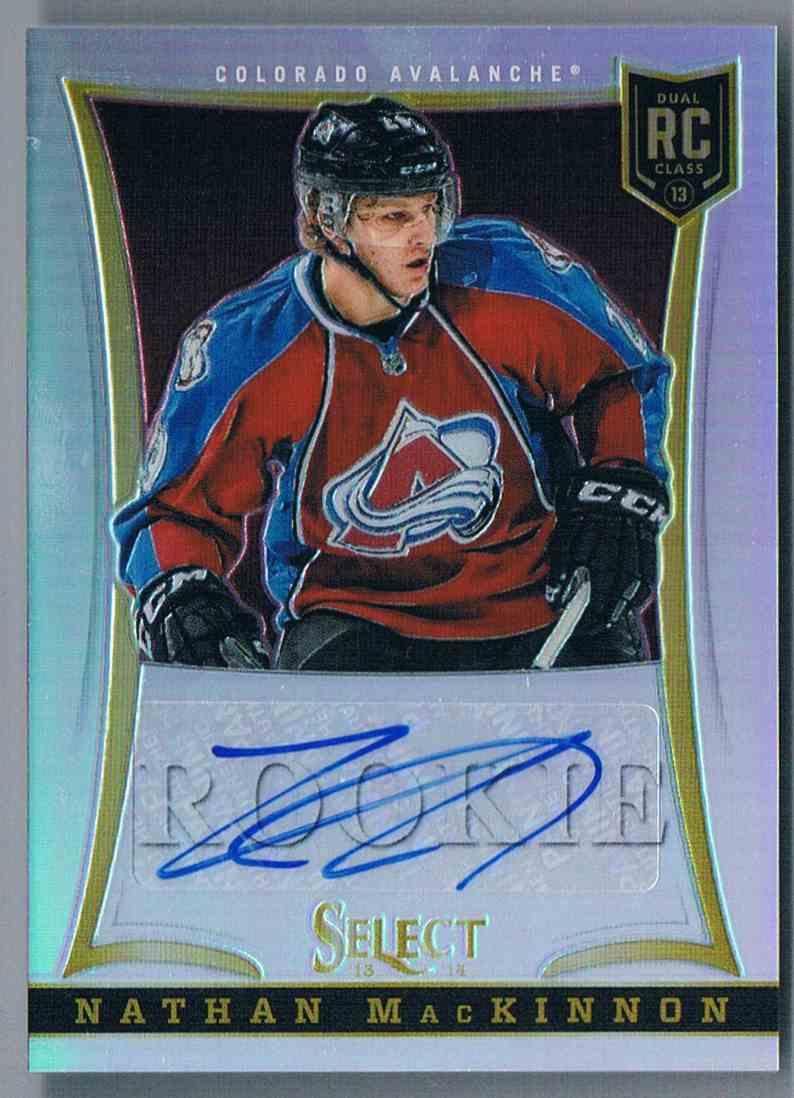 2013-14 Panini Select Prizms Autograph Nathan Mackinnon #301 card front image