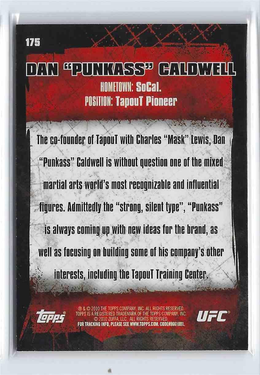 2010 Topps UFC Gold Dan Caldwell #175 card back image