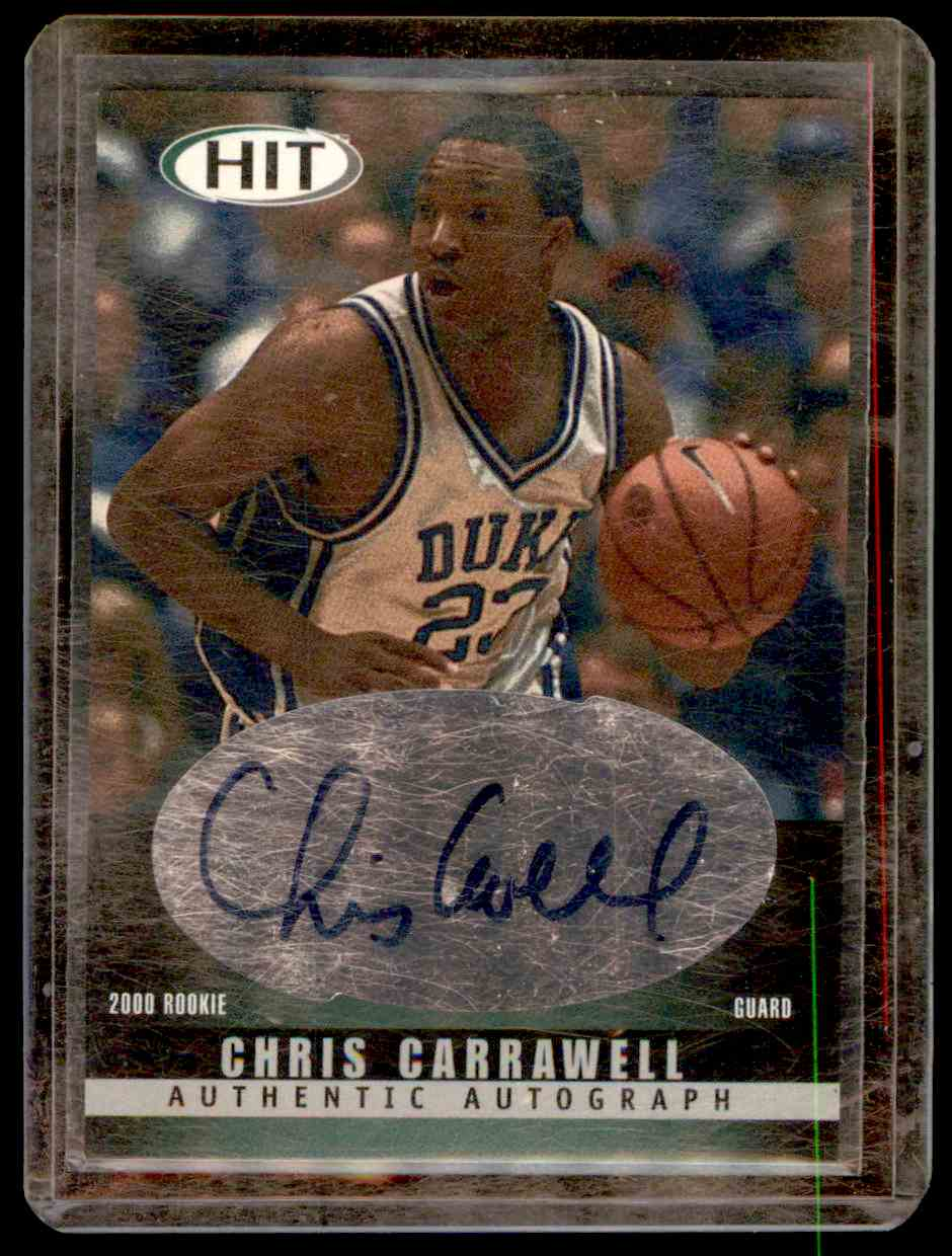 2000-01 Sage Hit Autographs Chris Carrawell #26 card front image