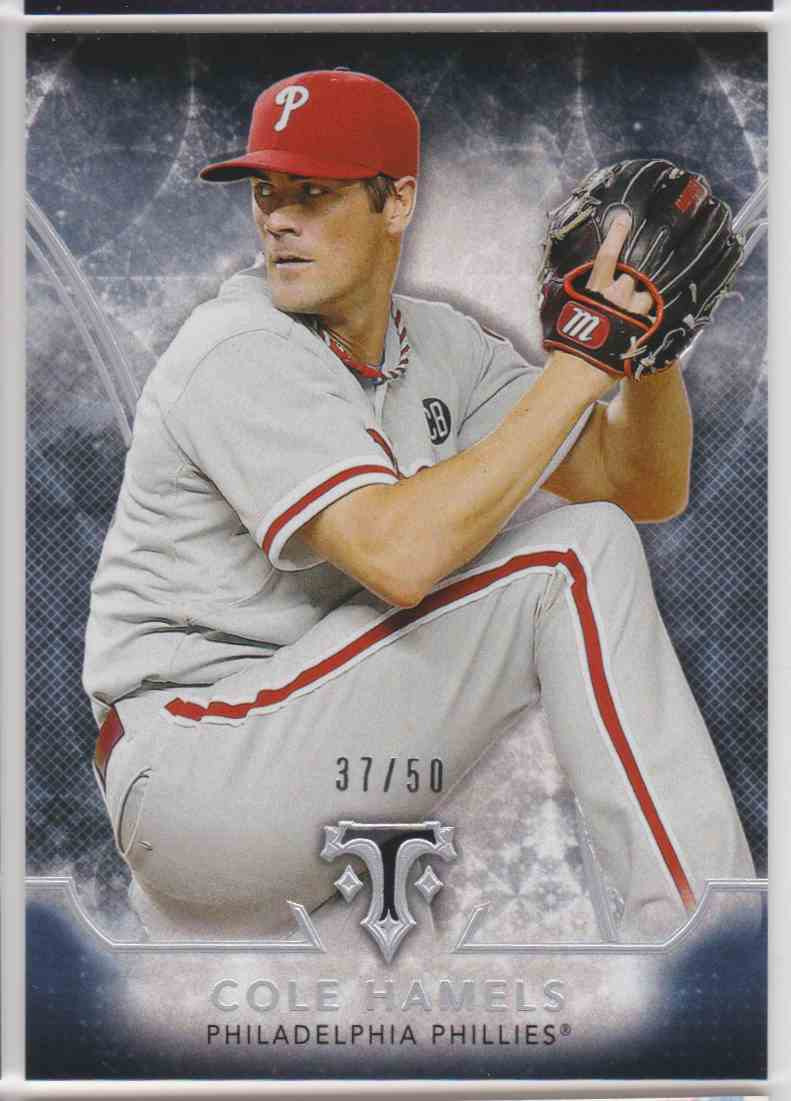 2015 Topps Triple Threads Onyx Cole Hamels #39 card front image