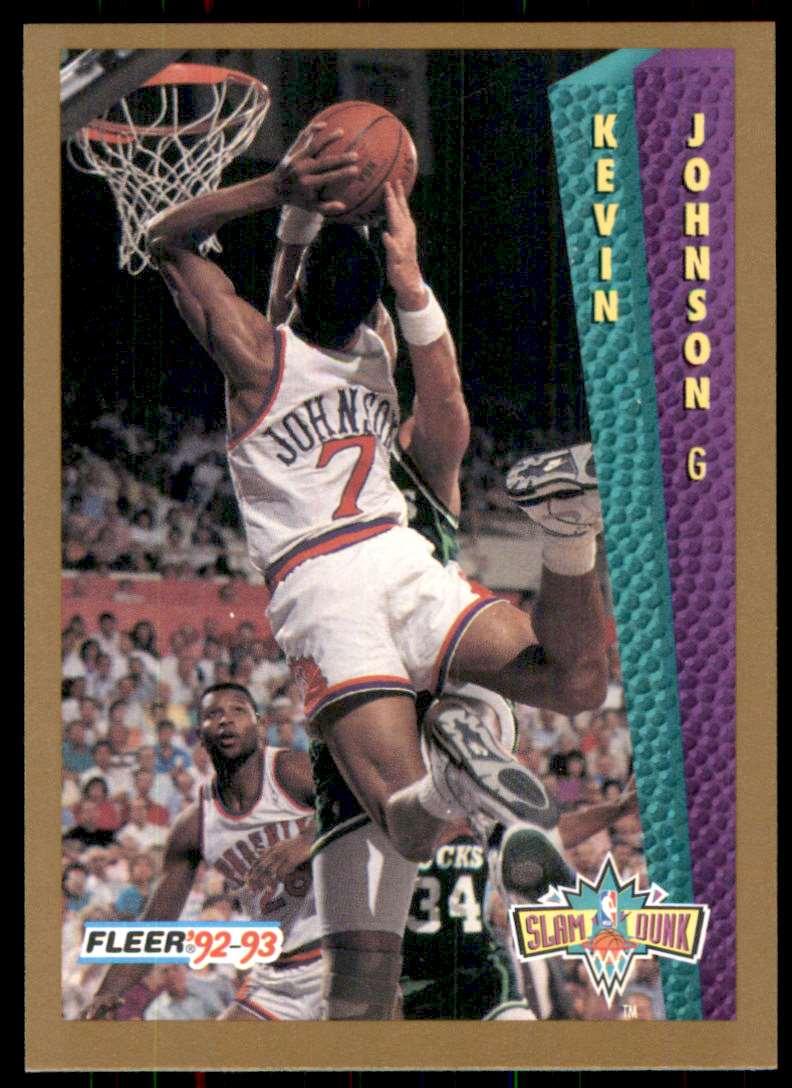1992-93 Fleer Kevin Johnson #282 card front image