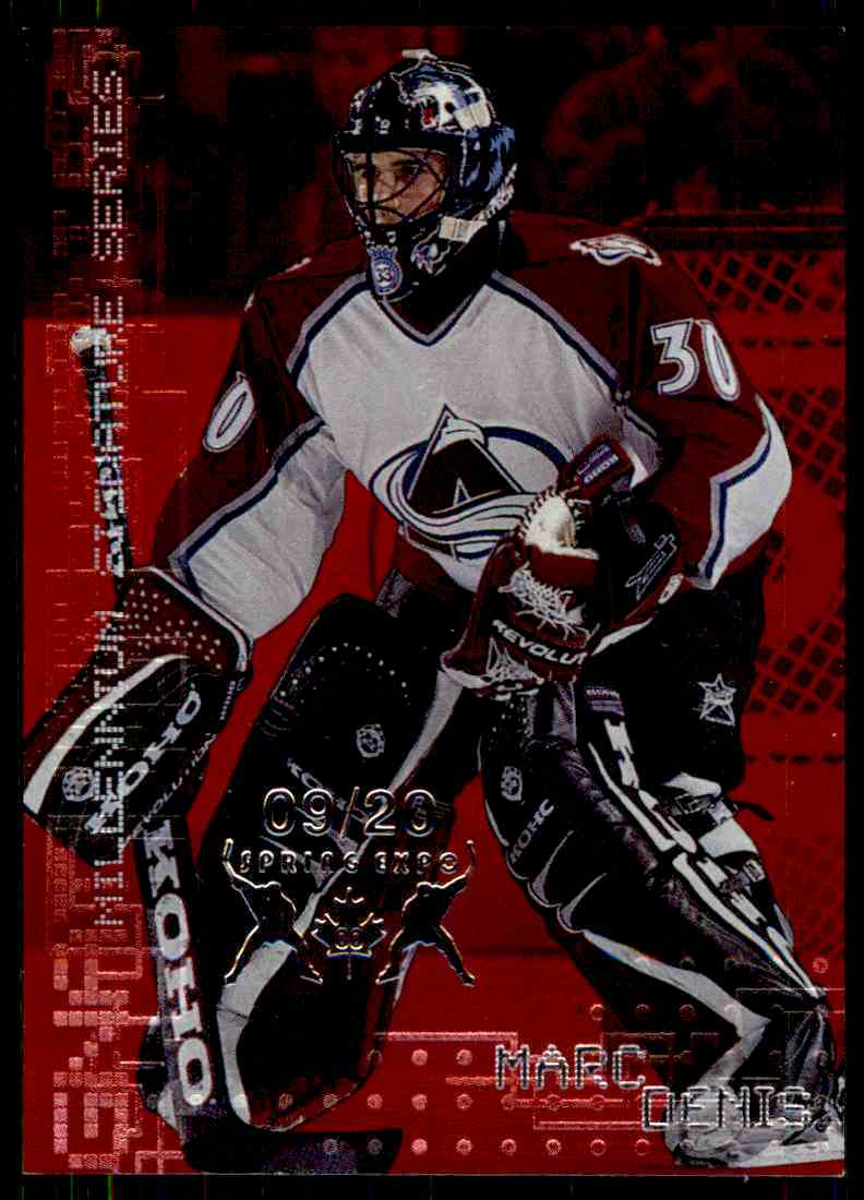 1999-00 Bap Millennium Toronto Spring Expo Marc Denis #72 card front image