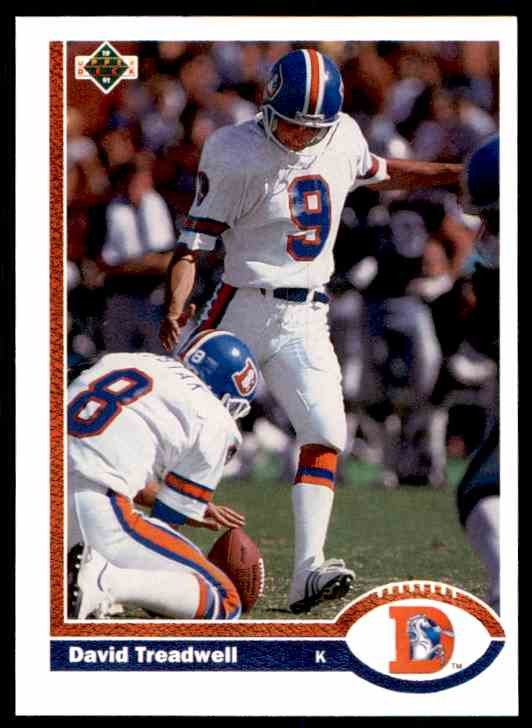 1991 Upper Deck David Treadwell #496 card front image