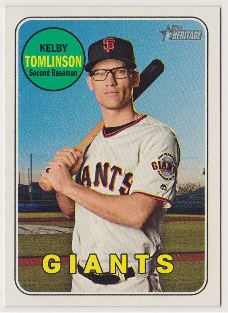 2018 Topps Heritage Kelby Tomlinson #681 card front image