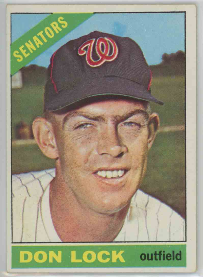1966 Topps Don Lock #165 card front image