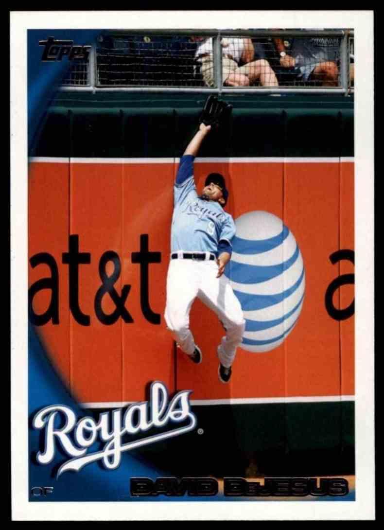 2010 Topps David DeJesus #117 card front image