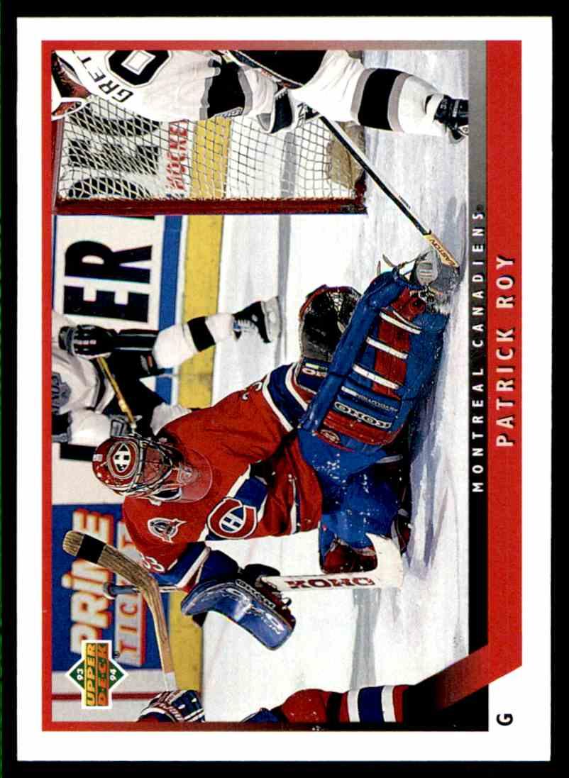 1993-94 Upper Deck Patrick Roy #49 card front image