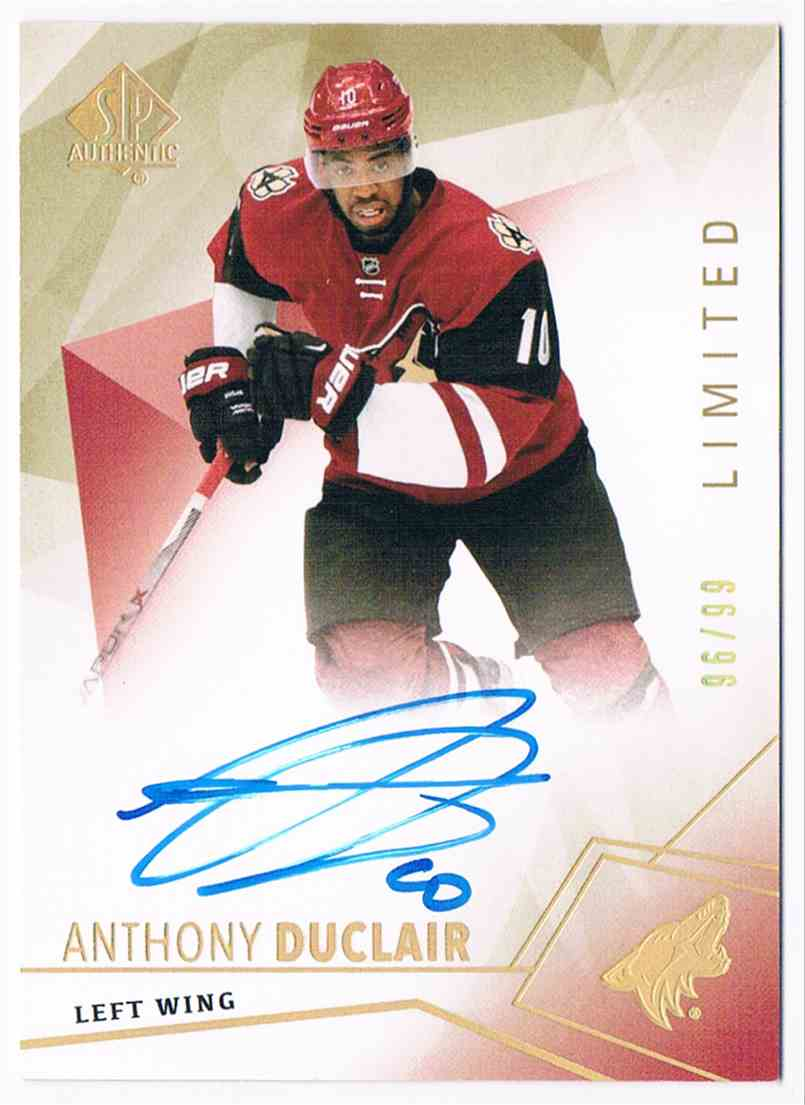 2016-17 Upper Deck SP Authentic Anthony Duclair #29 card front image