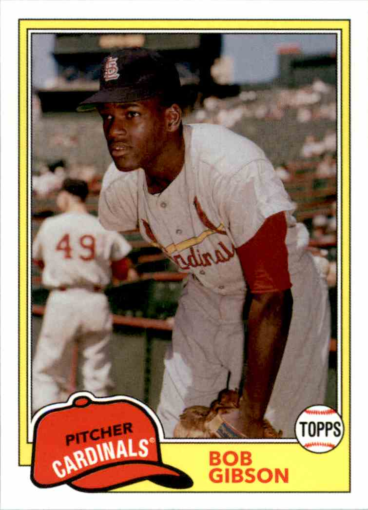 2018 Topps Archives Bob Gibson #204 card front image
