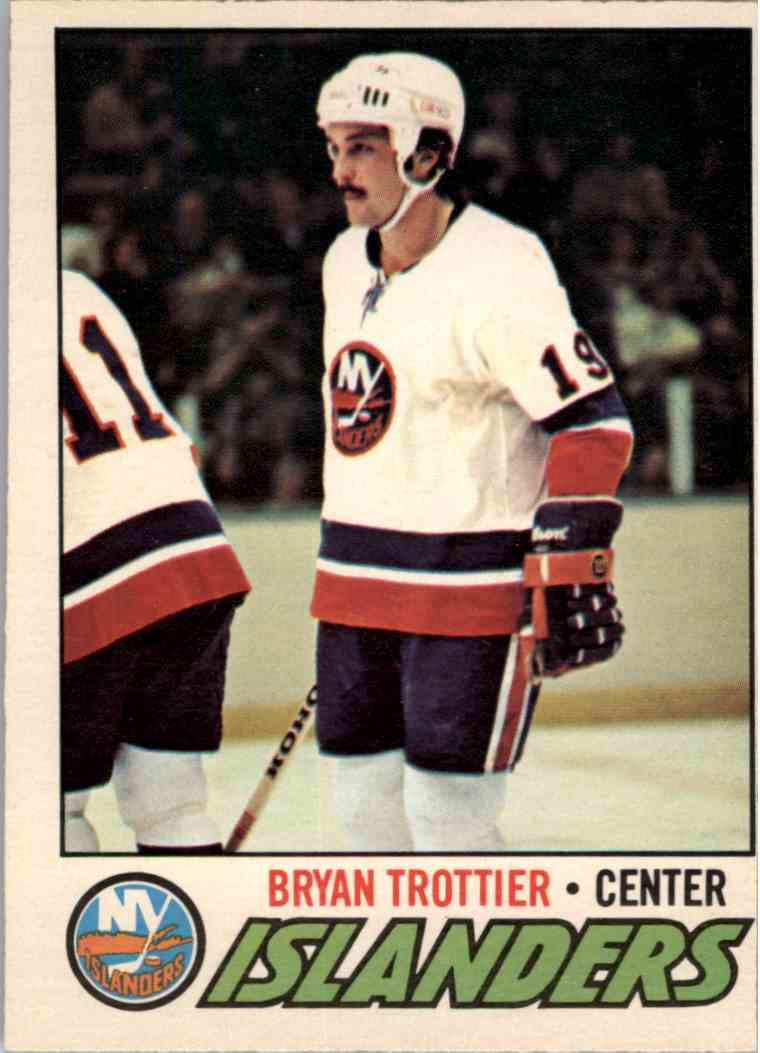 1977-78 O-Pee-Chee Bryan Trottier - Off Centered Otherwise Nrmt/Mint #105 card front image