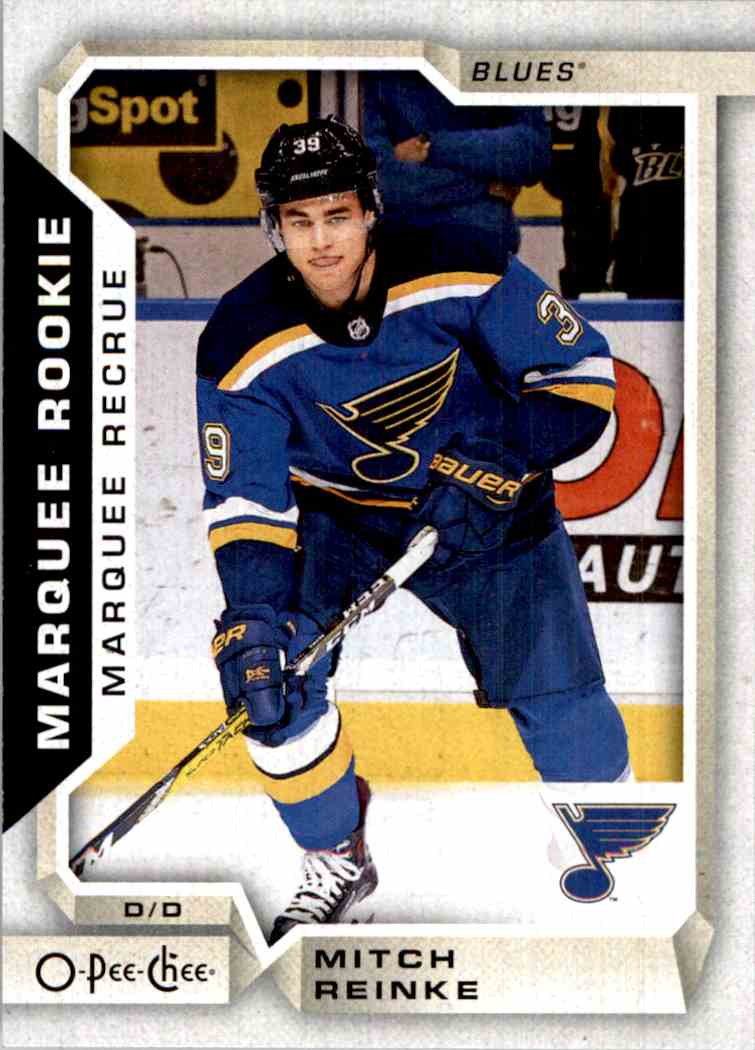 2018-19 O-Pee-Chee marquee Rookie Mitch Reinke #532 card front image