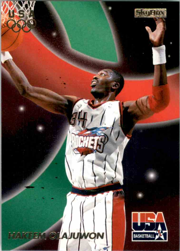 1996-97 SkyBox USA Hakeem Olajuwon #16 card front image