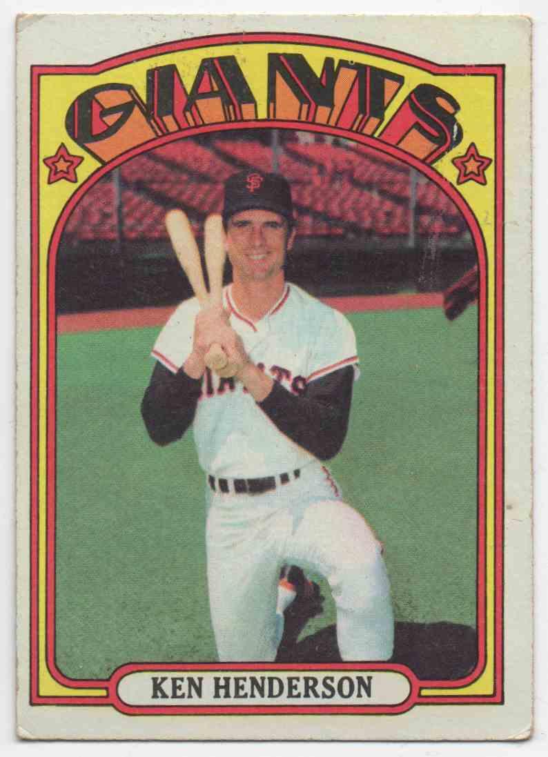 1972 Topps Ken Henderson #443 card front image
