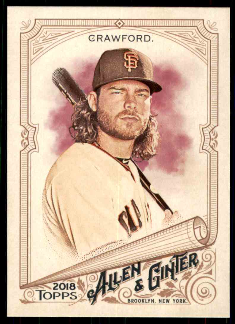 2018 Topps Allen & Ginter Brandon Crawford #215 card front image