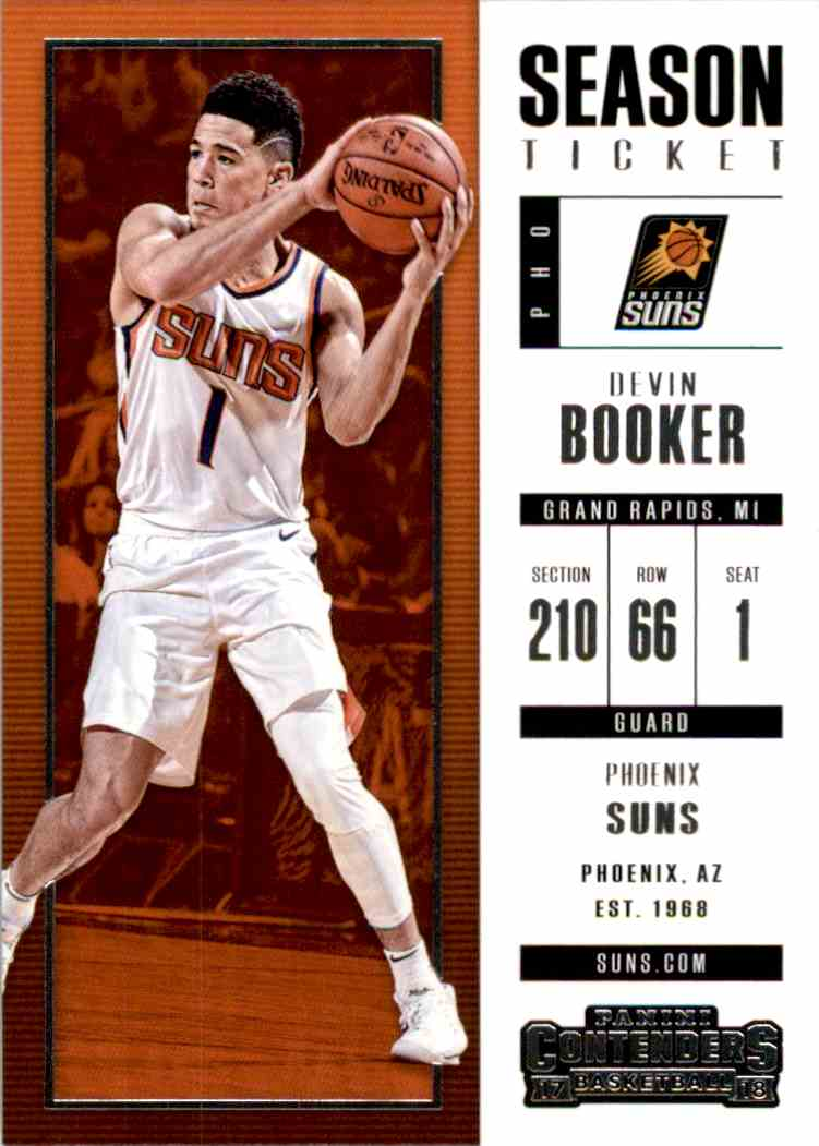 2017-18 Panini Contenders Base Devin Booker #96 card front image