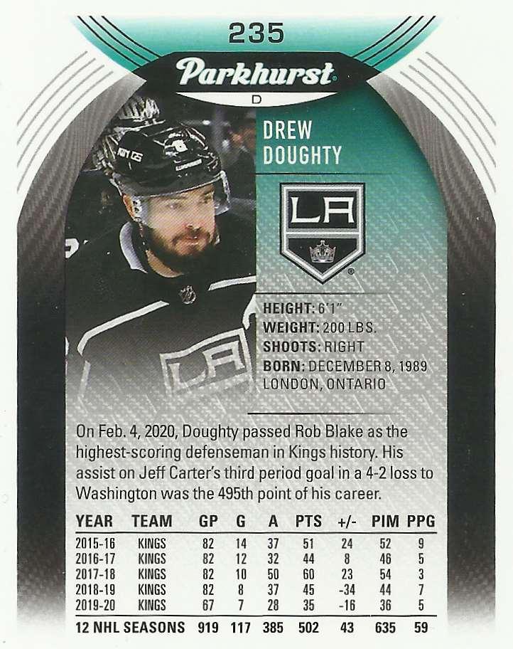 2020-21 Parkhurst Drew Doughty #235 card back image
